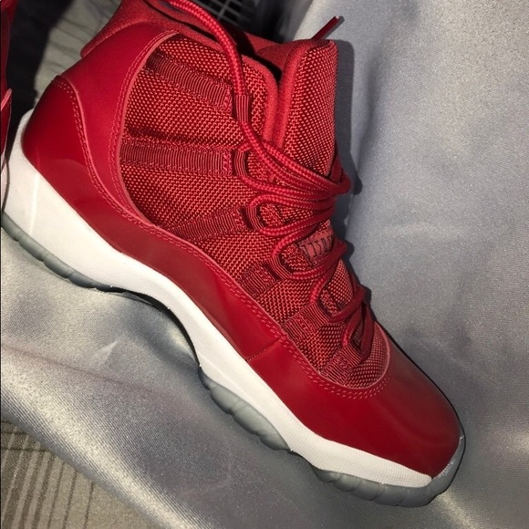 Jordan Shoes   All Red Bg 11s Hightops